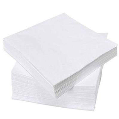SERVIETTE DE TABLE 3000P 30X30CM 2 PLIS BLANC NH412BL